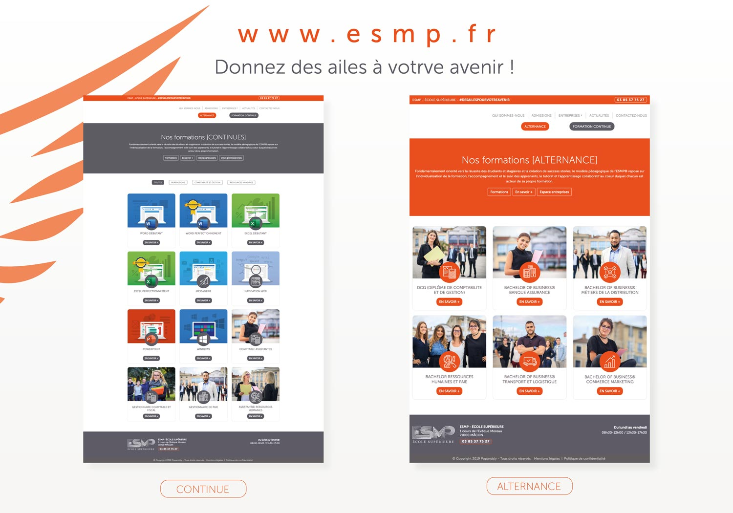 page alternance et formation continue